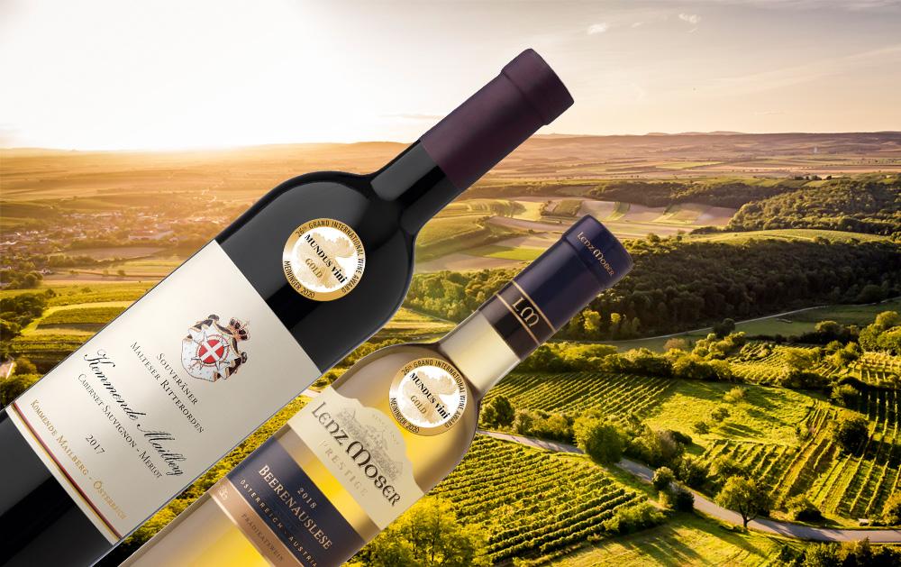 2 x Gold beim internationalen Weinpreis Mundus Vini Frühjahr 2020
