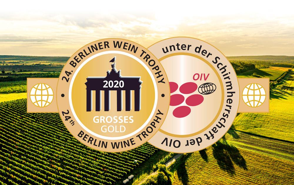 1 x Großes Gold und 7 x Gold bei der Berliner Wein Trophy Sommer 2020