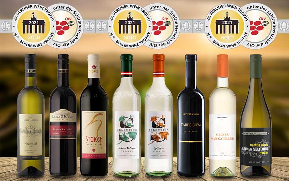 Sensationelle 8 Goldmedaillen bei der Berliner Wein Trophy Frühjahr 2021