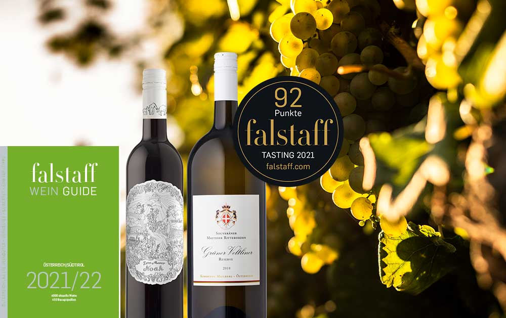 Falstaff Weinguide 2021/22: Hervorragende Bewertungen für unsere Weine!