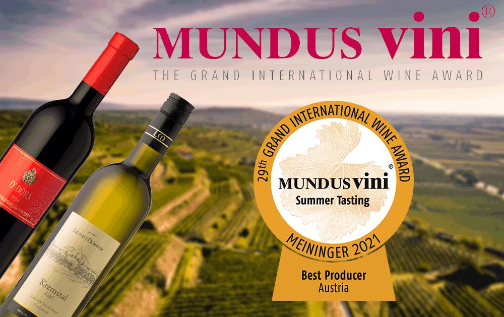 Mundus Vini 2021: Best Producer 2021, 6 Goldmedaillen und 2 Sonderauszeichnungen!